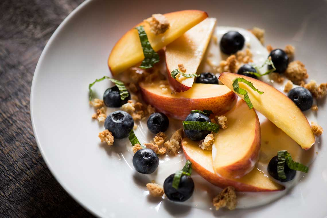 Blueberry Peach Yogurt